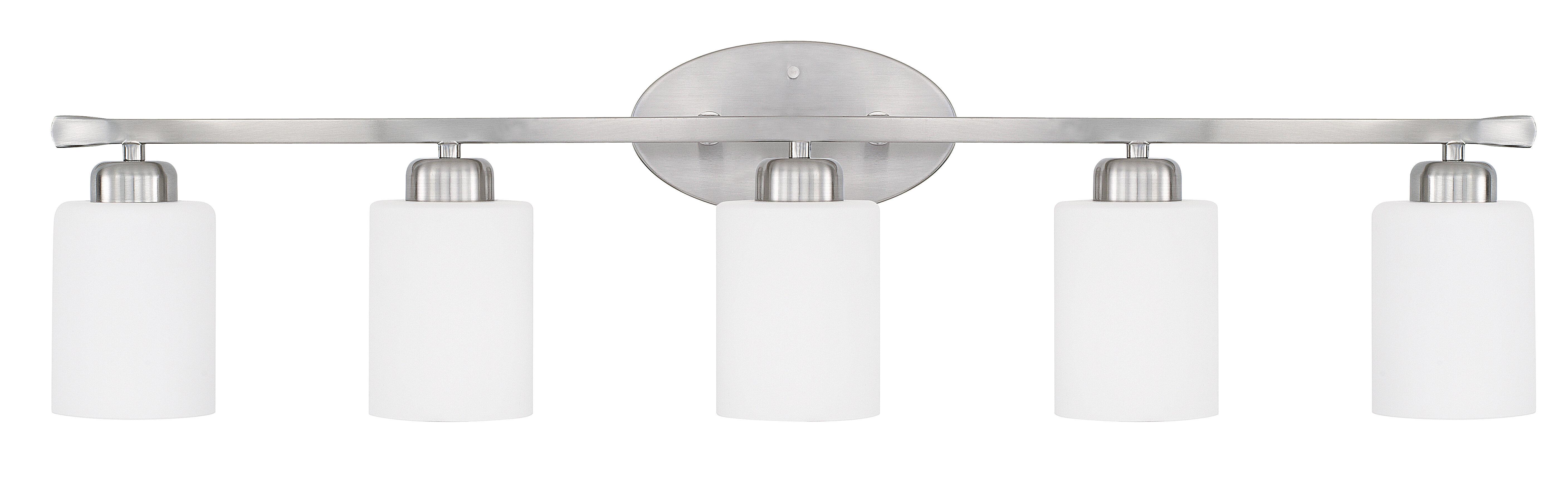 Winston Porter Cem 5 Light Dimmable Vanity Light Wayfair