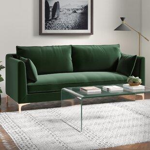 Modern Contemporary Emerald Green Sofa Allmodern