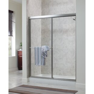 Chase 60 x 70 Single Sliding Framed Shower Door by Hazelwood Home
