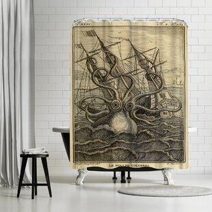 Adams Ale Marine Kraken Single Shower Curtain