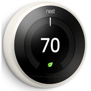 Google Nest White Wi-Fi Enabled Thermostat By Google Nest