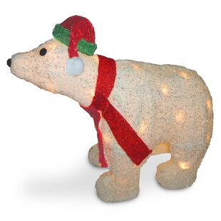decorative dcor 3d polar bear christmas decoration