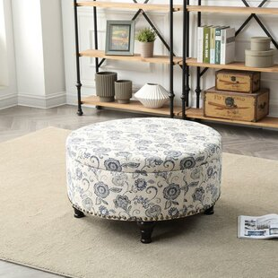 Reviews New Canaan Round Storage Ottoman By Charlton Home