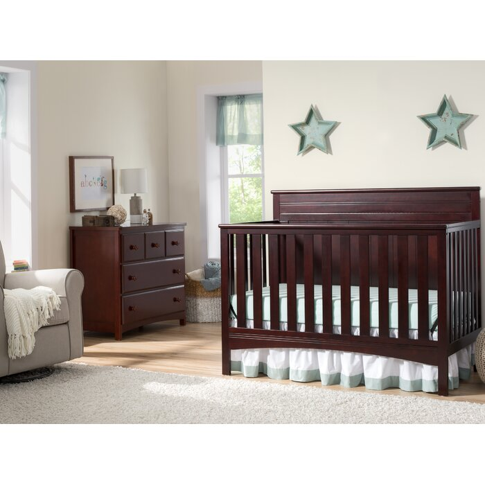 Fancy 4 In 1 Convertible 2 Piece Crib Set