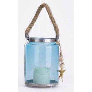 Glitzhome 1-Light Outdoor Glass Lantern