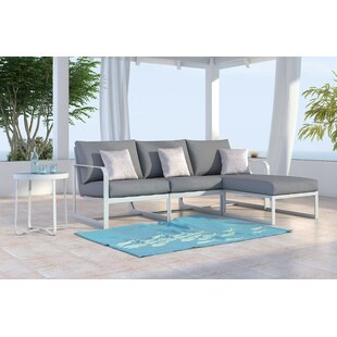 Elle Decor Mirabelle Patio Sectional with Cushions