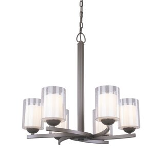 Latitude Run Saver 6-Light Shaded Chandelier