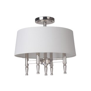 Quinlan 4-Light Semi Flush Mou..