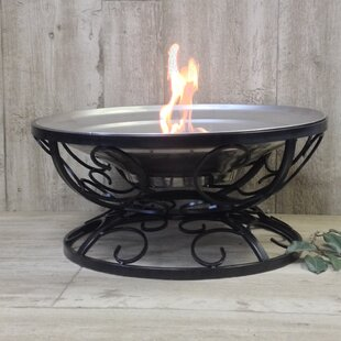 Pomegranate Solutions, LLC Fall Swirl Stainless Steel Wood Burning Fire Pit
