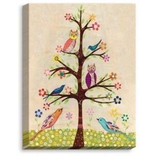 U0027Owl Bird Tree IIu0027 By Sascalia Graphic Art On Wrapped Canvas