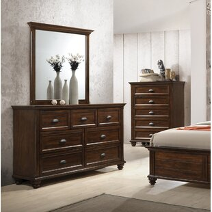 Kamarre 7 Drawer Dresser with Mirror