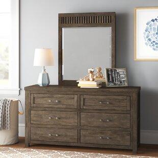Belgrade 6 Drawer Double Dresser with Mirror by Three Posts Baby amp Kids