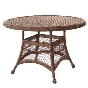 Starcher Wicker/Rattan Dining Table by Ch..