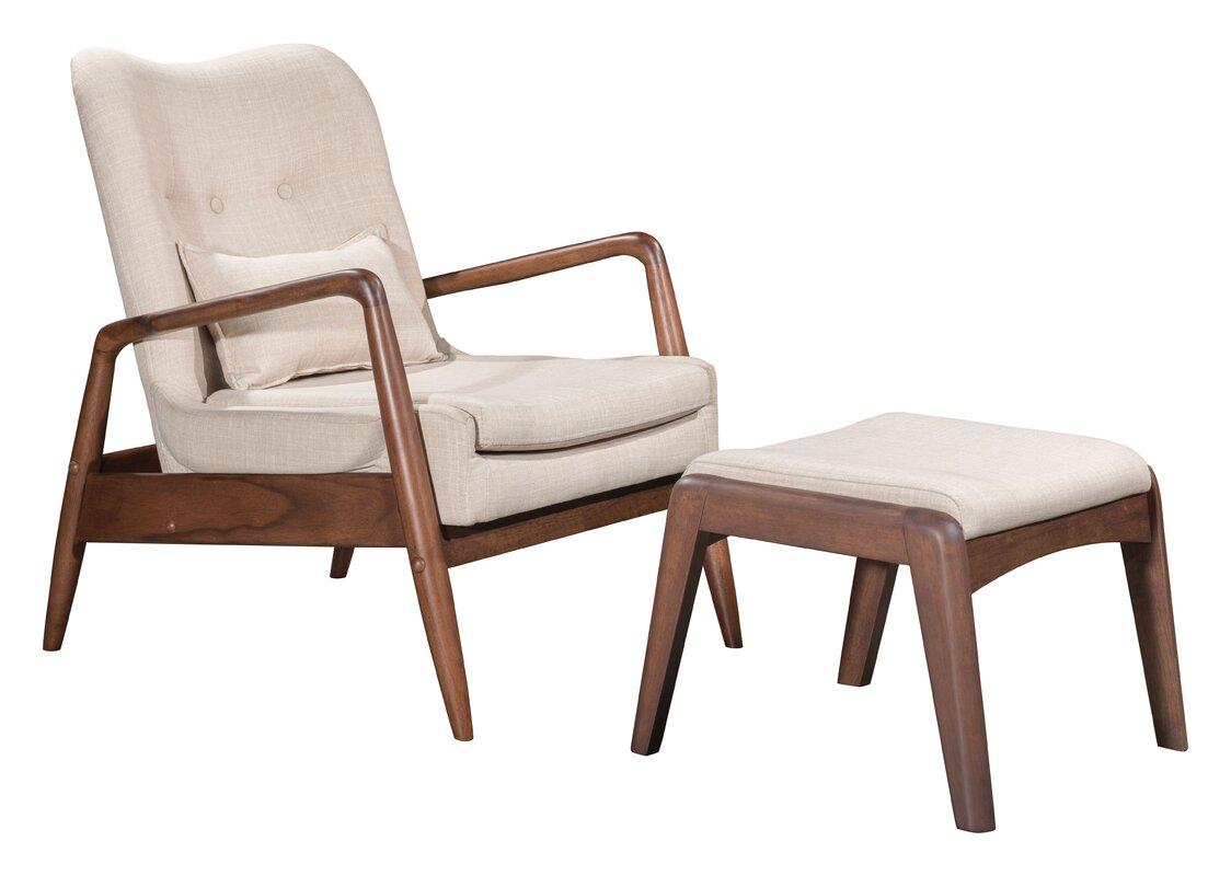 Corrigan Studio Marlowe Lounge Chair And Ottoman Reviews Wayfair