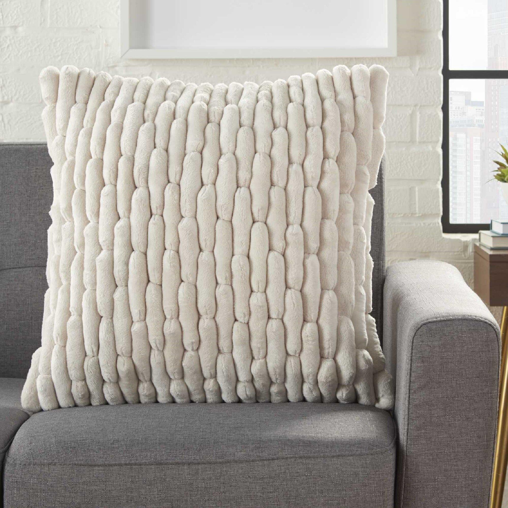 Gracie Oaks Dejong Textured Solid Throw Pillow Reviews Wayfair