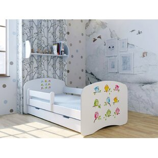 Birds Bed With Mattress And Drawer By Zoomie Kids