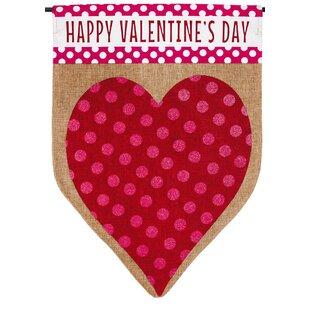 Valentineu0027s Heart Garden Flag