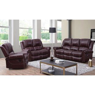 Lopp 3 Piece Leather Living Ro..