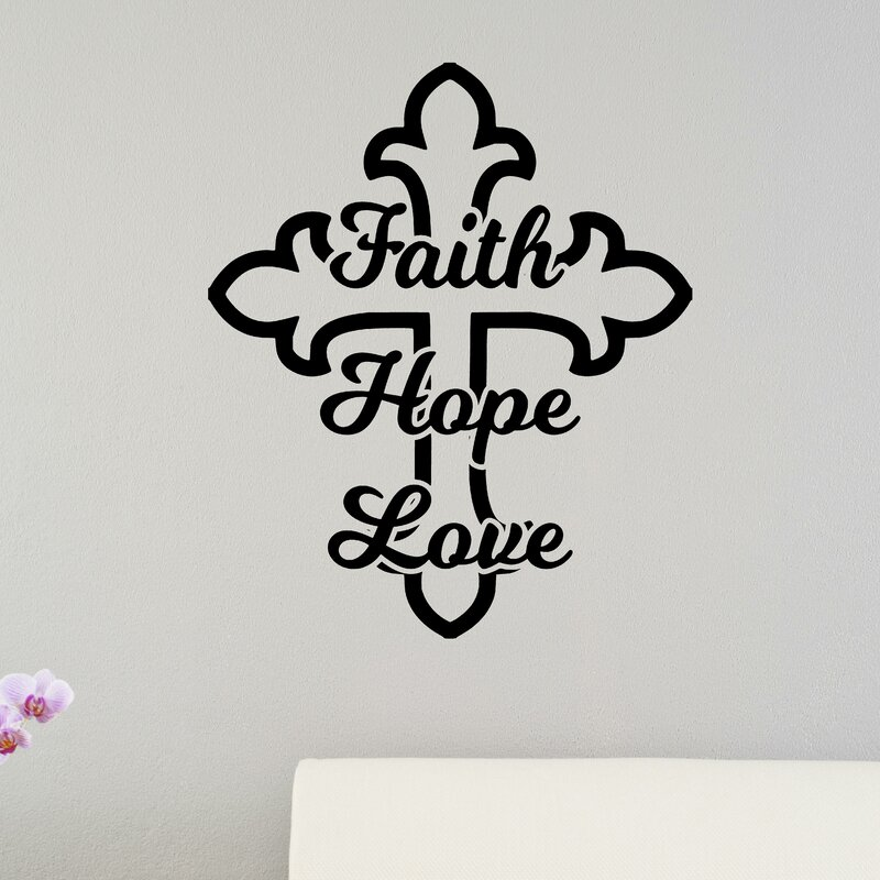 enchantingly elegant faith hope love cross christian bible verse