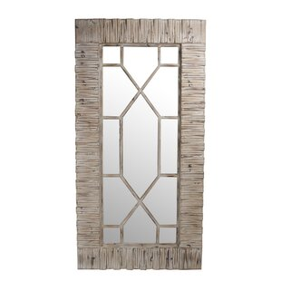 Rosecliff Heights Bakersfield Accent Mirror with Geometric Overlay