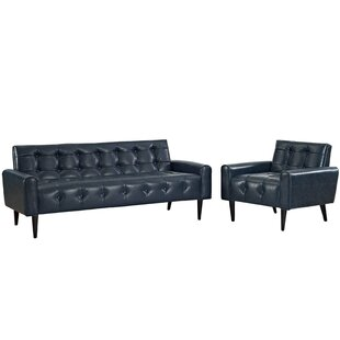 Great Price Perry 2 Piece Living Room Set by Zipcode Design Reviews (2019) & Buyer's Guide