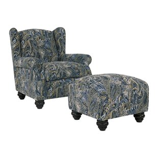 Roselle Wingback Chair and Ottoman