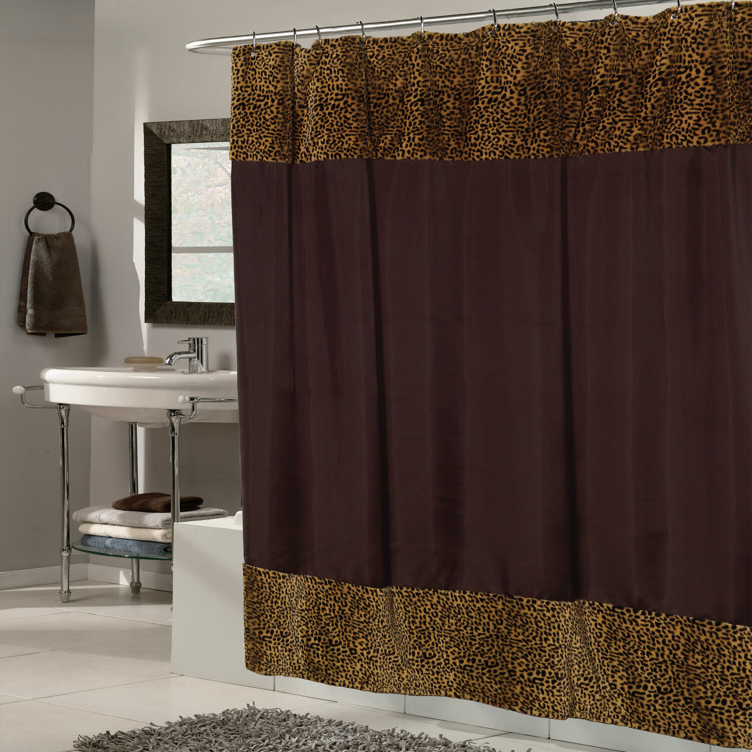Sweet Home Collection Fabric Shower Curtain | Wayfair