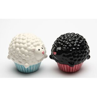 Cupcake Sheep Salt and Pepper Set