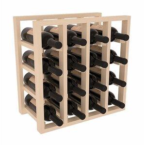 Karnes Pine Lattice 16 Bottle Tabletop Wine Rack by Red Barrel Studio