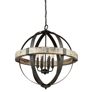 Laurel Foundry Modern Farmhouse Pearl 6-Light Globe Chandelier