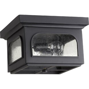 Pelletier 2-Light Outdoor Flush Mount
