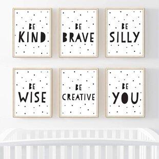 Inspirational Words Blue and Gold Elephant Wall Art Nursery Digital Print Let Them Play Nursery Decor