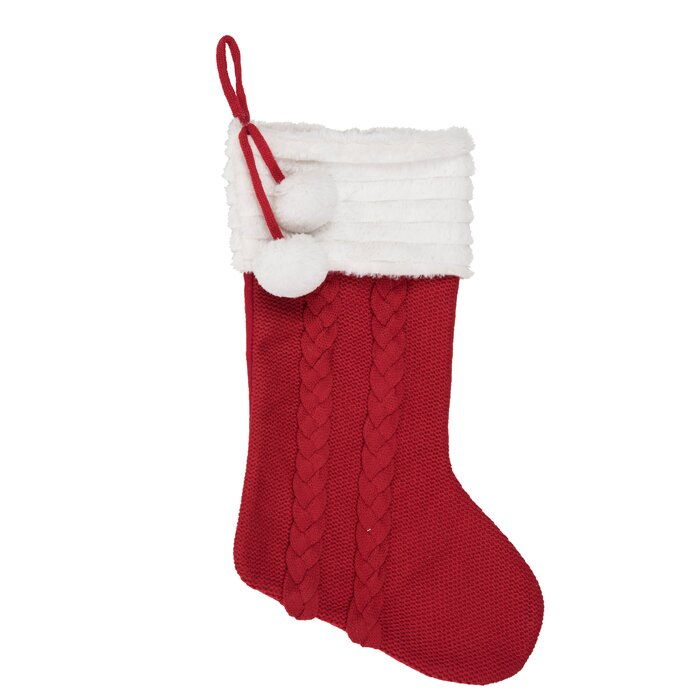 Cable Knit Christmas Stockings.Fabric Cable Knit Stocking