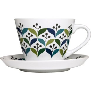 Retro Tea Cup with Saucer