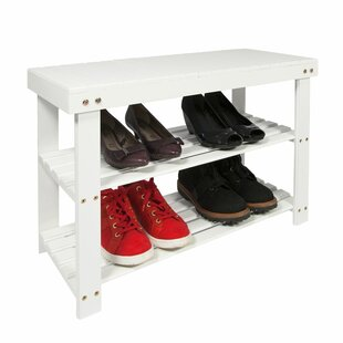 Wooden 2 Tier Shoe Rack By Rebrilliant