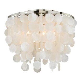 Kym Capiz Shell Flush Mount