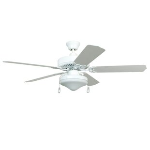 Read Reviews 52 Southerland 5-Blade Ceiling Fan with Light Kit By Red Barrel Studio