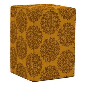 Tall Block Medallion Ottoman by Howard Elliott