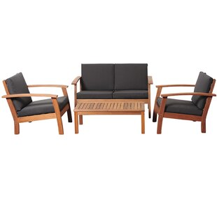 Fann 4 Piece Sofa Seating Group with Cushions