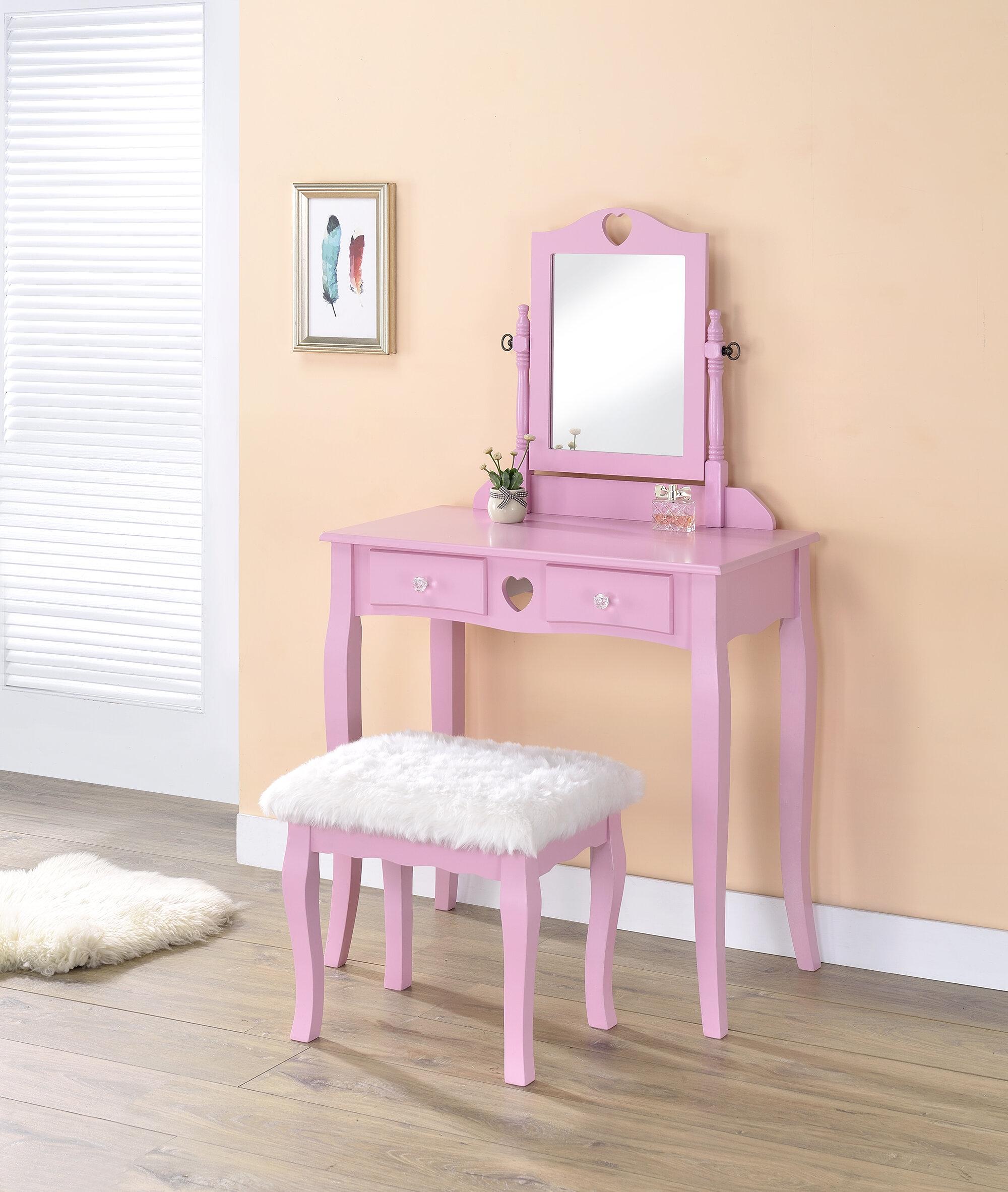 Vanity Set Stool Included Winston Porter Small Bedroom Vanities You Ll Love In 2021 Wayfair