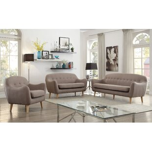 Inexpensive Malaya 3 Piece Living Room Set by Corrigan Studio Reviews (2019) & Buyer's Guide