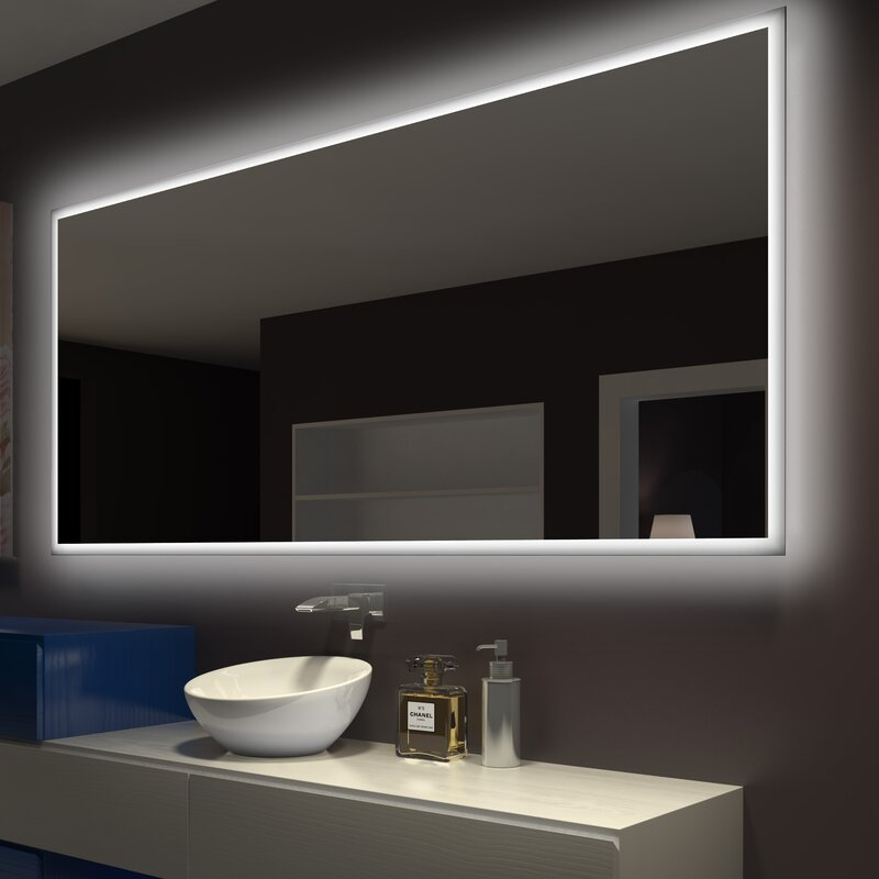 Paris Mirror Rectangle Backlit Bathroom/Vanity Wall Mirror ...