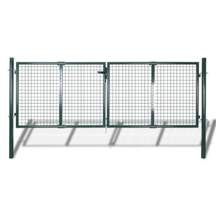 Farsund Garden 10' X 5' (3.1m X 1.5m) Metal Gate By Sol 72 Outdoor