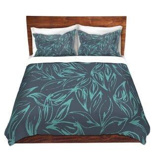 DiaNoche Designs Luminous Leafy Layers Duvet..