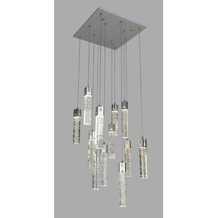 Baylor Crystal Square 12-Light LED Pendant by Orren Ellis