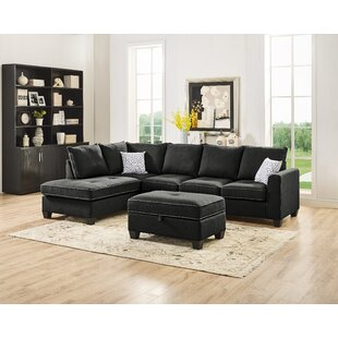 Whitehaven Reversible Sectional with Ottoman by Ebern Designs