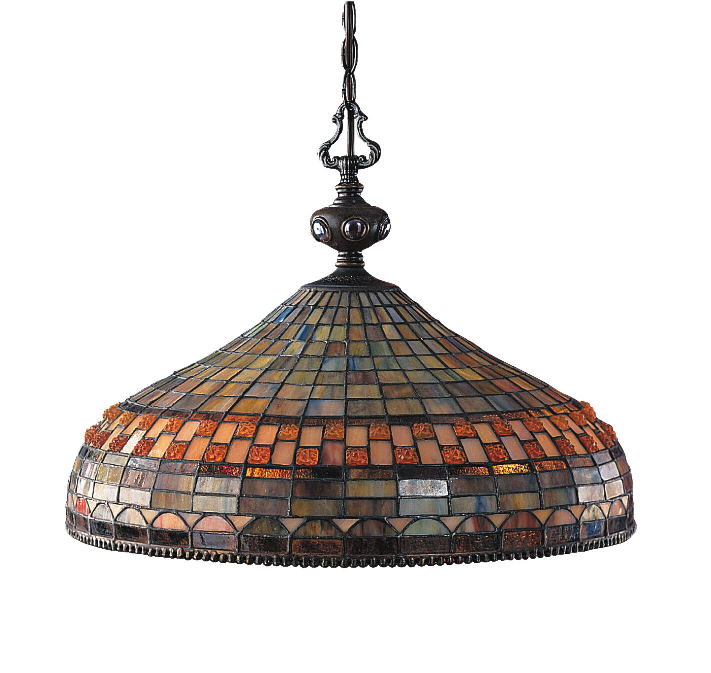 Fleur De Lis Living Baron 3 Light Unique Statement Dome Pendant Reviews Wayfair