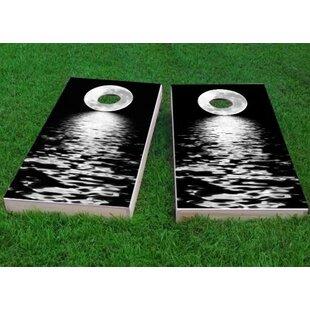 Custom Cornhole Boards Full Moon Over the Water Cornhole Game (Set of 2)