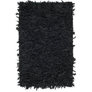 Albany Hand-Knotted Black Area Rug