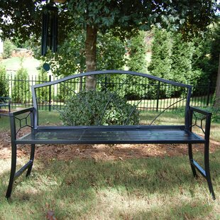 Nelumbo Steel Garden Bench by Griffith Creek Designs